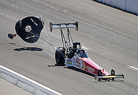 Sept. 29, 2012; Madison, IL, USA: NHRA top fuel dragster driver Doug Kalitta during qualifying for the Midwest Nationals at Gateway Motorsports Park. Mandatory Credit: Mark J. Rebilas-