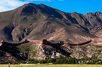 Monastery near Shigatse, Tibet, China.