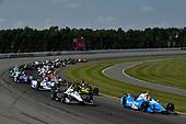 Verizon IndyCar Series<br /> ABC Supply 500<br /> Pocono Raceway, Long Pond, PA USA<br /> Sunday 20 August 2017<br /> Takuma Sato, Andretti Autosport Honda, Simon Pagenaud, Team Penske Chevrolet, Start<br /> World Copyright: Scott R LePage<br /> LAT Images<br /> ref: Digital Image lepage-170820-poc-6745