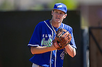 Chris Sale #41 of the Florida Gulf Coast Eagles warms up in the bullpen prior to taking on the Campbell Fighting Camels at Taylor Field April 9, 2010, in Lillington, North Carolina.  Photo by Brian Westerholt / Four Seam Images