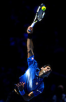 Novak Djokovic of Serbia in action at the ATP World Tour Finals, The O2, London, 2015