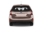 Straight rear view of a 2015 Toyota Grand Prius+ 5 Door Mini Van stock images