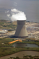 aerial view above the Hope Creek nuclear power plant PSEG Nuclear LLC Lower Alloways  New Jersey