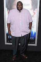 """WESTWOOD, LOS ANGELES, CA, USA - APRIL 10: Quinton Aaron at the Los Angeles Premiere Of Warner Bros. Pictures And Alcon Entertainment's """"Transcendence"""" held at Regency Village Theatre on April 10, 2014 in Westwood, Los Angeles, California, United States. (Photo by Xavier Collin/Celebrity Monitor)"""