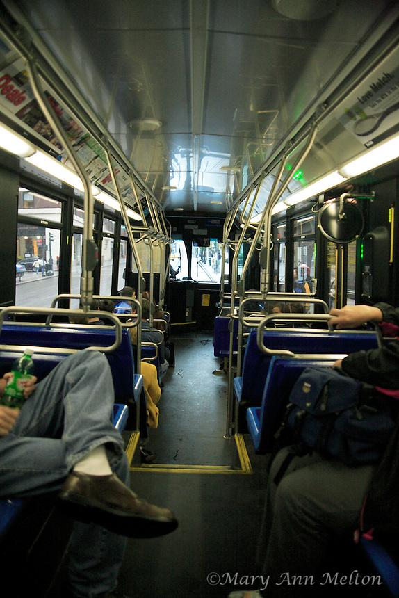 Interior New York City bus