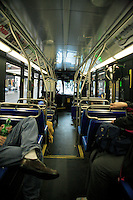Interior New York City bus