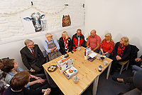 Pictured: Jeremy Corbyn with First Minister for Wales Mark Drakeford, meet party suppirters at Awesome Wales, a zero waste shop in Barry. Saturday 07 December 2019<br /> Re: Labour Party leader Jeremy Corbyn pre-election campaign in Barry, south Wales, UK.