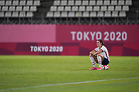 KASHIMA, JAPAN - AUGUST 2: Carli Lloyd #10 of the United States after a game between Canada and USWNT at Kashima Soccer Stadium on August 2, 2021 in Kashima, Japan.