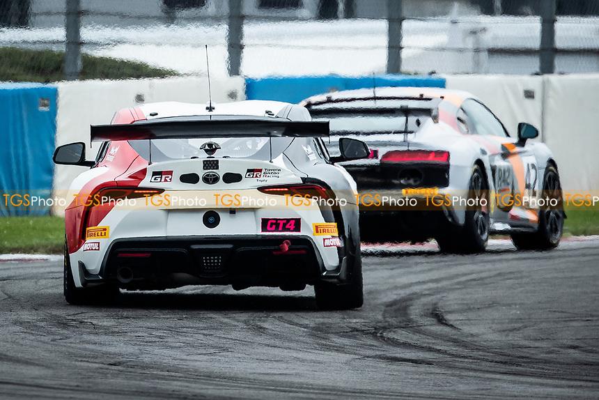 John Ferguson & Scott McKenna, Toyota GR Supra GT4, Toyota GAZOO Racing UK pursues Richard Williams & Sennan Fielding, Audi R8 LMS GT4, Stellar Motorsport out of Melbourne during the British GT & F3 Championship on 10th July 2021