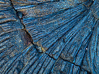 A close-up of the pattern of lava rock, Kiholo Bay, Big Island of Hawai'i.