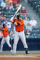 Sean Halton (24) of the Bowie Baysox at bat against the Richmond Flying Squirrels at The Diamond on May 23, 2015 in Richmond, Virginia.  The Baysox defeated the Flying Squirrels 3-2.  (Brian Westerholt/Four Seam Images)