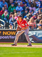 21 April 2013: Washington Nationals third baseman Anthony Rendon makes his Major League career debut against the New York Mets at Citi Field in Flushing, NY. Rendon was called up to replace Ryan Zimmerman, who was placed on the 15-day Disabled List with a recovering hamstring. The Mets shut out the visiting Nationals 2-0, taking the rubber match of their 3-game weekend series. Mandatory Credit: Ed Wolfstein Photo *** RAW (NEF) Image File Available ***