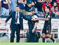 PASADENA, CA – June 25, 2011: Mexican Coach Jose Manuel De La Torre  during the Gold Cup Final match between USA and Mexico at the Rose Bowl in Pasadena, California. Final score USA 2 and Mexico 4.