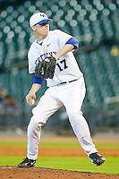 Starting pitcher Alex Meyer #17 of the Kentucky Wildcats delivers a pitch to the plate against the Houston Cougars at Minute Maid Park on March 5, 2011 in Houston, Texas.  Photo by Brian Westerholt / Four Seam Images