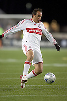 Chicago Fire midfielder Cuauhtemoc Blanco (10) controls a long pass. The New England Revolution tied the Chicago Fire, 0-0, at Gillette Stadium on October 17, 2009.