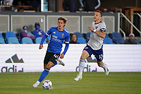 SAN JOSE, CA - MAY 1: Cade Cowell #44 of the San Jose Earthquakes during a game between D.C. United and San Jose Earthquakes at PayPal Park on May 1, 2021 in San Jose, California.