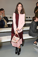 Laura Jackson<br /> at the Eudon Choi catwalk show as part of London Fashion Week SS17, Brewer Street Car Park, Soho London<br /> <br /> <br /> ©Ash Knotek  D3155  16/09/2016