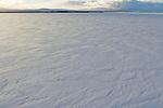 Frozen over Tule Lake in winter, Tule Lake National Wildlife Refuge, California