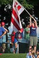 Boyds, MD - Saturday July 09, 2016: Spirit fan prior to a regular season National Women's Soccer League (NWSL) match between the Washington Spirit and the Chicago Red Stars at Maureen Hendricks Field, Maryland SoccerPlex.