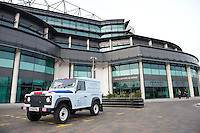 A Jack Wills branded Land Rover outside Twickenham Stadium during the 131st Varsity Match between Oxford University and Cambridge University at Twickenham on Thursday 06 December 2012 (Photo by Rob Munro)