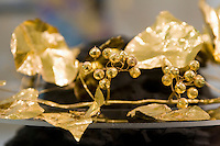 Museum Agios Mamas in Güzelyurt (Morfou), Fund aus Soli, Grab 4 aus klassischer bis , Nordzypernhellenistischer Zeit, gefunden 2005, Gold-Kopfschmuck