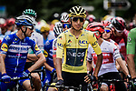 Yellow Jersey Egan Bernal (COL) Team Ineos lined up for the start of Stage 20 of the 2019 Tour de France running 59.5km from Albertville to Val Thorens, France. 27th July 2019.<br /> Picture: ASO/Pauline Ballet | Cyclefile<br /> All photos usage must carry mandatory copyright credit (© Cyclefile | ASO/Pauline Ballet)