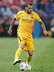 FC Barcelona's Dani Alves during Champions League 2015/2016 Quarter-Finals 2nd leg match. April 13,2016. (ALTERPHOTOS/Acero)
