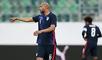 ST. GALLEN, SWITZERLAND - MAY 30: John Brooks #6 of the United States giving directions during a game between Switzerland and USMNT at Kybunpark on May 30, 2021 in St. Gallen, Switzerland.