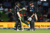 23rd March 2021; Christchurch, New Zealand;  Tom Latham  and Devon Conway of the Black Caps during the 2nd ODI cricket match, Black Caps versus Bangladesh, Hagley Oval, Christchurch, New Zealand.