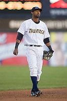 Shortstop Eduardo Nunez #37 of the Trenton Thunder on defense versus the Portland Sea Dogs at Waterfront Park May 12, 2009 in Trenton, New Jersey. (Photo by Brian Westerholt / Four Seam Images)
