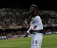 29th August 2021;  Estadio Arechi, Salerno, Campania, Italy;  Serie A Football league, Salernitana versus Roma; Tammy Abraham thanks the fans at game end