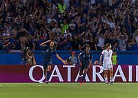 PARIS,  - JUNE 28: Wendie Renard #3 celebrates her goal during a game between France and USWNT at Parc des Princes on June 28, 2019 in Paris, France.