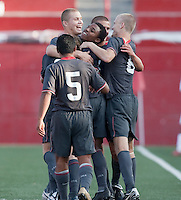 US Men's National Team U-17 Celebrate. US Men's National Team Under-17 defeated Canade 4-2 in the 2009 CONCACAF Under-17 Championship on April 23 in Tijuana, Mexico.