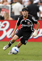 DC United midfielder Joshua Gros (17) controls the ball during the game. DC United defeated the Los Angeles Galaxy 1-0 at RFK Stadium in Washington DC, Thursday August 9, 2007.