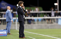 SAN JOSE, CA - MAY 15: Matías Almeyda head coach of the San Jose Earthquakes paces the sideline during a game between Portland Timbers and San Jose Earthquakes at PayPal Park on May 15, 2021 in San Jose, California.