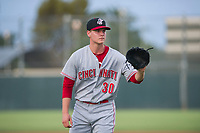 AZL Reds starting pitcher Ricky Karcher (30) on the mound against the AZL Athletics on July 16, 2017 at Lew Wolff Training Complex in Mesa, Arizona. AZL Athletics defeated the AZL Reds 13-5. (Zachary Lucy/Four Seam Images)