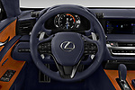 Car pictures of steering wheel view of a 2018 Lexus LC 500 4 Door Sedan
