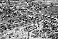 aerial photo of train yard and Union Ave.
