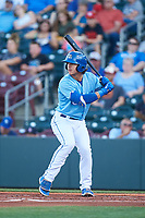 Omaha Storm Chasers Nick Pratto (32) at bat during a game against the Iowa Cubs on August 14, 2021 at Werner Park in Omaha, Nebraska. Omaha defeated Iowa 6-2. (Zachary Lucy/Four Seam Images)