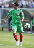 Jonny Magallon chases down the ball. Mexico defeated Nicaragua 2-0 during the First Round of the 2009 CONCACAF Gold Cup at the Oakland, Coliseum in Oakland, California on July 5, 2009.