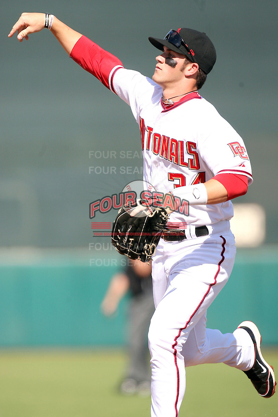 Bryce Harper - Scottsdale Scorpions - 2010 Arizona Fall League. Harper, the 2010 first overall draft choice of the Washington Nationals, plays in his second official professional game for the Scottsdale Scorpions against the Phoenix Desert Dogs at Scottsdale Stadium - 10/23/2010.Photo by:  Bill Mitchell/Four Seam Images..