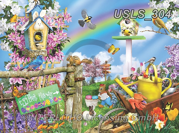 Lori, LANDSCAPES, LANDSCHAFTEN, PAISAJES, paintings+++++Spring Egg Hunt_Sunsout_72,USLS304,#l#, EVERYDAY ,puzzle,puzzles