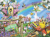 Lori, LANDSCAPES, LANDSCHAFTEN, PAISAJES, paintings+++++Spring Egg Hunt_Sunsout_72,USLS304,#l#, EVERYDAY ,puzzle,puzzles