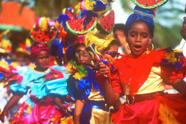 Children's Parade, Mardi Gras, Curacao, Caribbean..