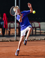 Netherlands, Rotterdam August 05, 2015, Tennis,  National Junior Championships, NJK, TV Victoria, Bram Poel<br /> Photo: Tennisimages/Henk Koster