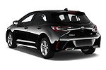 Car pictures of rear three quarter view of 2019 Toyota Corolla SE 5 Door Hatchback Angular Rear