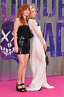 """Georgia May Jagger and Clara Paget<br /> arrives for the """"Suicide Squad"""" premiere at the Odeon Leicester Square, London.<br /> <br /> <br /> ©Ash Knotek  D3142  03/08/2016"""