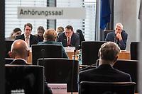 28. Sitzung des Abgas-Untersuchungsausschuss des Deutschen Bundestag am Mittwoch den 8. Maerz 2017.<br /> Als Zeugin war Bundeskanzlerin Angela Merkel (links im Bild) geladen. Rechts im Bild der Ausschussvorsitzende Herbert Behrens (Linkspartei).<br /> 16.2.2017, Berlin<br /> Copyright: Christian-Ditsch.de<br /> [Inhaltsveraendernde Manipulation des Fotos nur nach ausdruecklicher Genehmigung des Fotografen. Vereinbarungen ueber Abtretung von Persoenlichkeitsrechten/Model Release der abgebildeten Person/Personen liegen nicht vor. NO MODEL RELEASE! Nur fuer Redaktionelle Zwecke. Don't publish without copyright Christian-Ditsch.de, Veroeffentlichung nur mit Fotografennennung, sowie gegen Honorar, MwSt. und Beleg. Konto: I N G - D i B a, IBAN DE58500105175400192269, BIC INGDDEFFXXX, Kontakt: post@christian-ditsch.de<br /> Bei der Bearbeitung der Dateiinformationen darf die Urheberkennzeichnung in den EXIF- und  IPTC-Daten nicht entfernt werden, diese sind in digitalen Medien nach §95c UrhG rechtlich geschuetzt. Der Urhebervermerk wird gemaess §13 UrhG verlangt.]