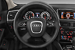 Steering wheel view of a 2009 - 2012 Audi Q5 Ambiente 5 Door Suv 4WD