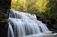 Early autumn at Canyon Falls. Alberta, MI